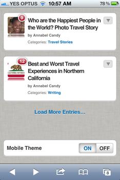 Mobile Friendly WordPress Blog on