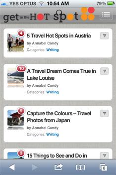 Mobile Friendly WordPress Blog home