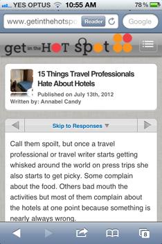Mobile Friendly WordPress Blog post