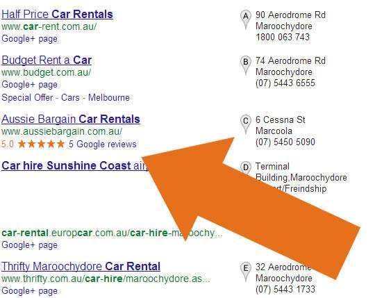 In this screen shot of a Google search for 'Hastings Street Restaurant' you can see directory sites like Noosa Tourism, TripAdvisor and Urbanspoon take the three first listings. Then immediately under those listings we see the seven pack of businesses with pins showing their location on a map. The organic listings have been shunted down the page below the seven pack so anyone who has spent a lot of money in SEO is now getting nothing from that investment.